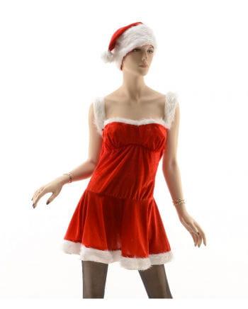 Sexy Weihnachtsfrau Kostüm mit Mütze