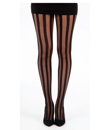 Sheer Bar Pantyhose With Stripes