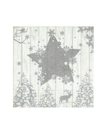 Silver Star Napkins 20 Pieces