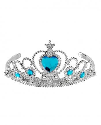 Silver Princess Tiara With Turquoise Stones