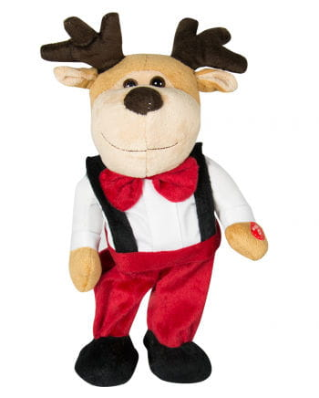 Dancing & Singing Christmas Elk 33 Cm