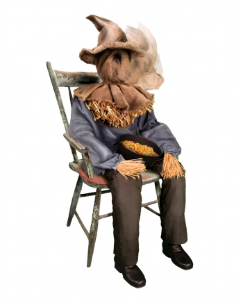 Sitting Scarecrow With Snap Head