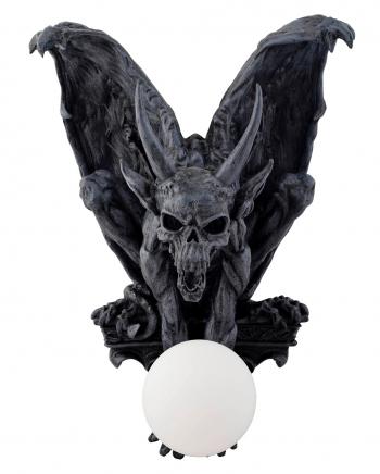 Sitzender Gargoyle mit Flügeln Wandlampe