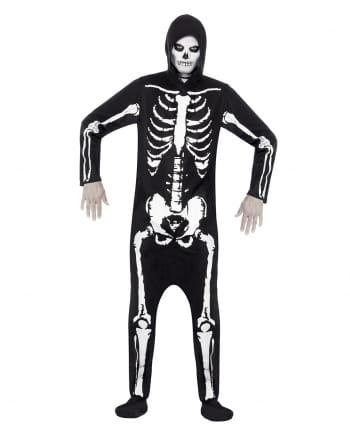 Skelett Kostüm mit Kapuze