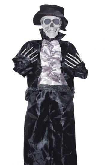 Skelett Bräutigam mit Zylinder