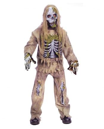 Skeleton Zombie Deluxe Kids Costume S