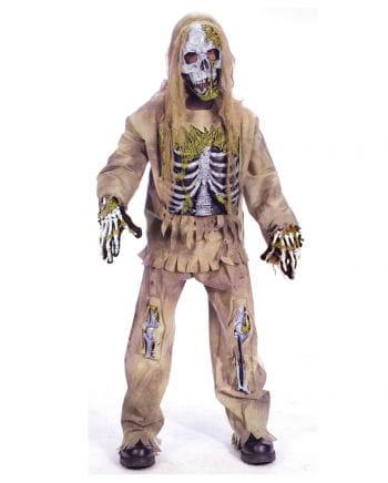 Skeleton Zombie Deluxe Kinderkostüm M
