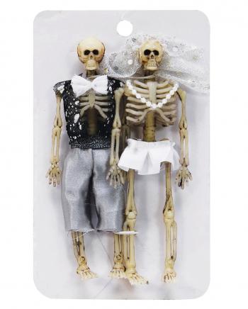 Skelettiertes Brautpaar 15cm