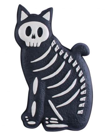 Skelett Katzen Deko 38cm
