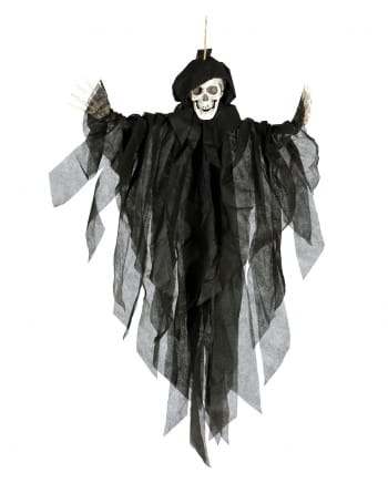 Schwarze Hängefigur Skelett 75cm