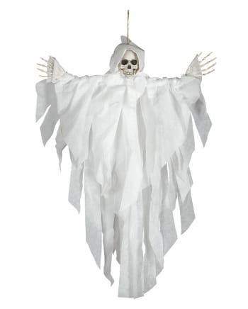 Weiße Hängefigur Skelett 75cm