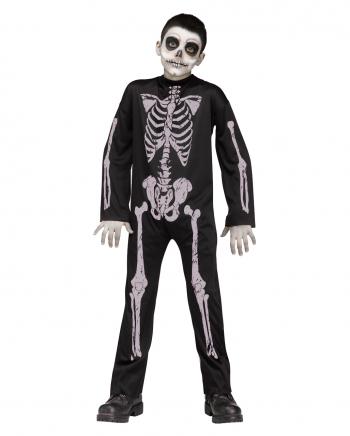 Skelett Kinder Kostüm-Anzug