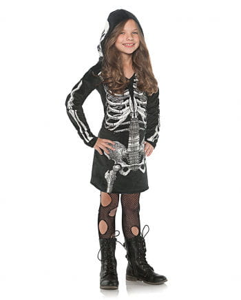 Skeleton Hooded Dress For Kids