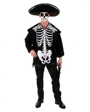 Halloween Poncho Skelett