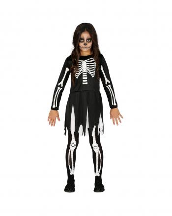 Skeleton Girl Halloween Costume For Children