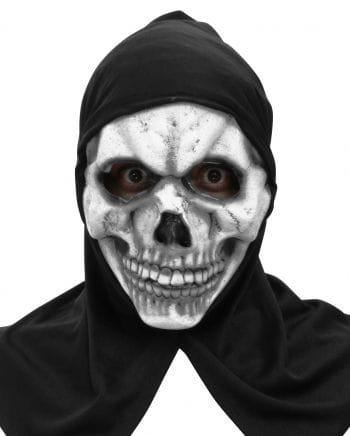 Skelett Maske mit Haube