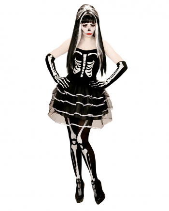 Skeleton Mini Dress With Gloves
