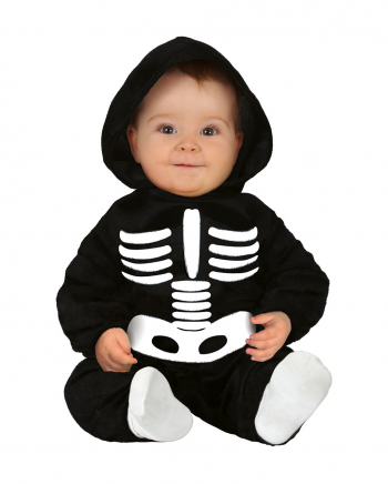 Skeleton Plush Costume With Hood For Toddlers