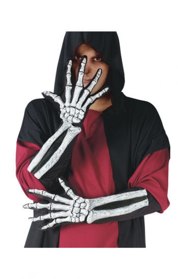 Skeleton 3D Gloves White