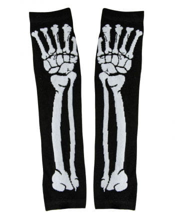 Fingerless Gloves with skeletal motif