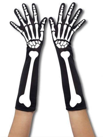 Skeleton Gloves Long