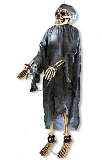 Skelett in Handschellen