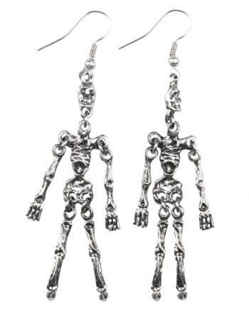 Silberne Ohrringe Skelett