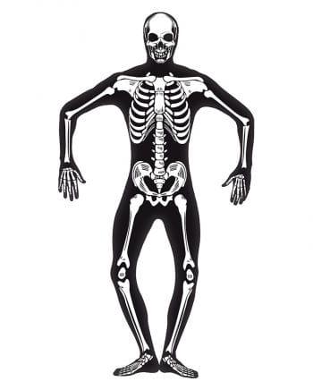 Skelett Skinsuit nachtleuchtend
