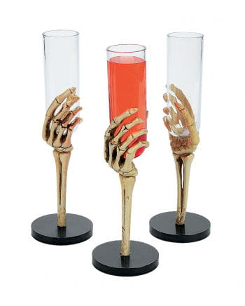 Skeletthand Sektglas small