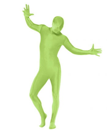 Skin Suit With Neon Green Belt Pocket