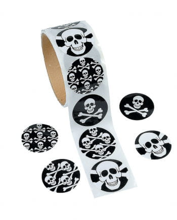 Totenkopf Aufklebe Sticker 100 St.