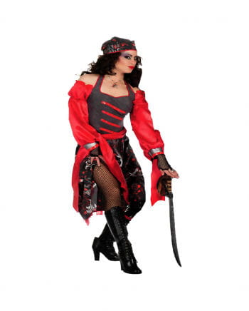 Totenkopf Piratin Kostüm Plus Size