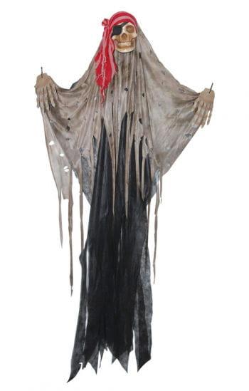 Totenkopf Piraten Vorhang schwarz