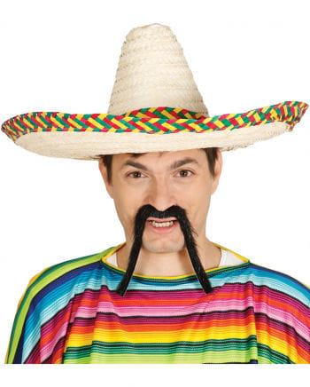 Stroh Sombrero mit Kordel