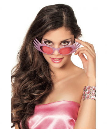 Glitzer Sonnenbrille Space Jam Rosa