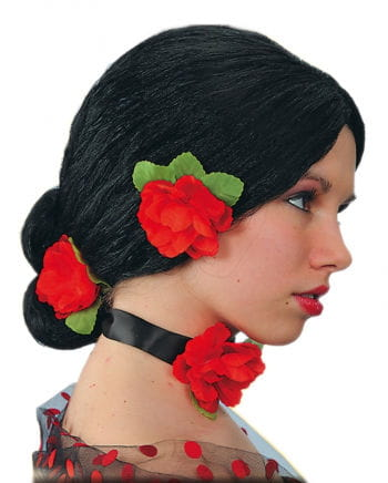 Spaniard wig with roses