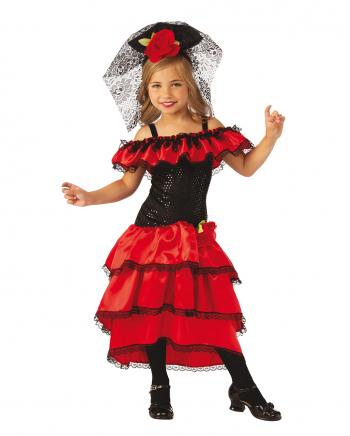 Spanish Flamenco Dancer Costume For Children