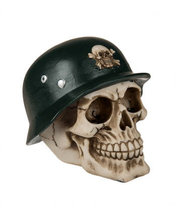 Money Box Skull With Military Helmet