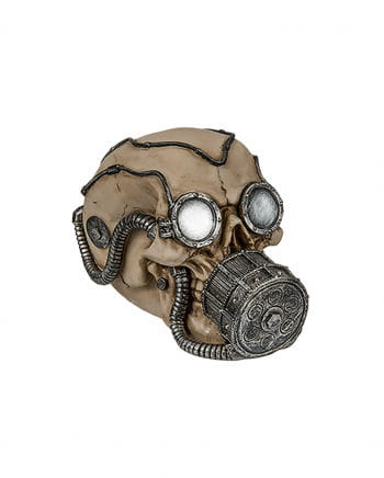 Money Box Skull With Silver Gas Mask