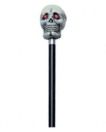 Walking stick with gray skull