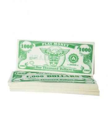 Play money dollar bills 1000 $
