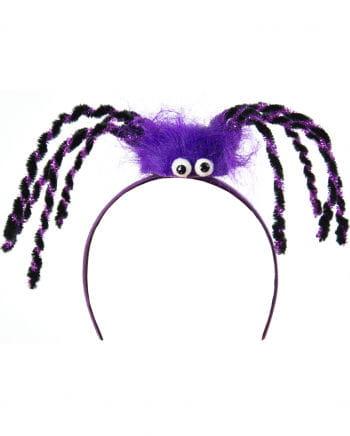 Haarreifen mit lila Spinne