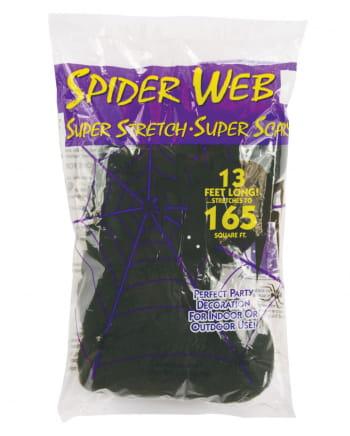 Halloween Spinnennetz schwarz 50g