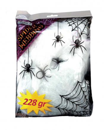 Künstliche Spinnweben 228g mit 2 Spinnen