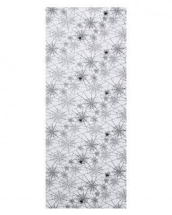 Spinnweben Dekostoff weiß
