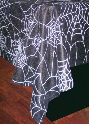 Spinnweben Tischdecke schwarz