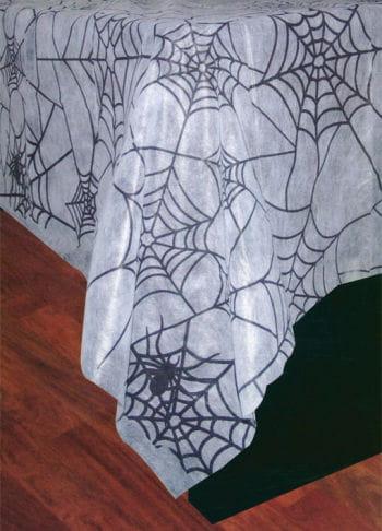 Spinnweben Tischdecke weiß