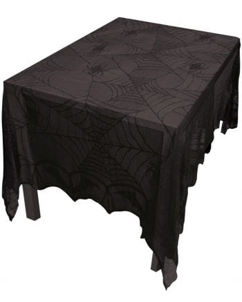 Halloween cobwebs tablecloth with lace Rectangular