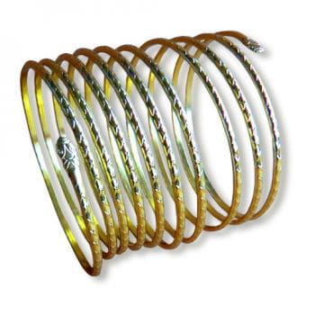 Spiral Armband gold