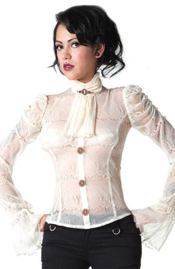 Steampunk Lace Blouse cream